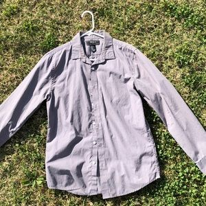 Forever 21 Men Grey Button Up